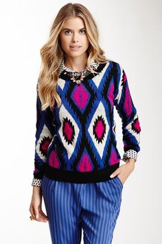 Flying Tomato Printed Sweater