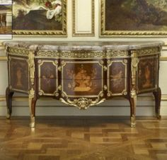 A commode by Gilles Joubert, for the rooms of Madame Victoire at Compiègne and later, the rooms of Louis XVI at Compiègne.