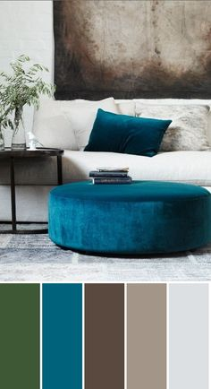 That blue. Love this color combo for my living room-family room
