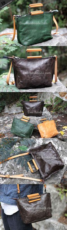 Handmade handbag tote purse leather crossbody bag purse shoulder bag