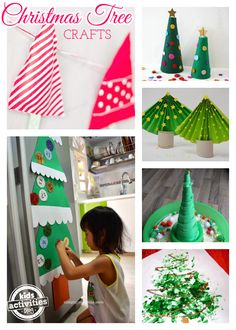 11 Creative Christmas Tree Crafts for Kids - I love that so many of these are simple even for little kids.