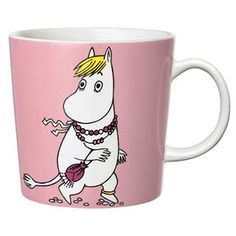 "Moomin Mugs from Arabia – A Complete Overview (2019) 60. Snorkmaiden pink / Niiskuneiti pinkki (2013–). The motif comes mainly from the story ""Moomin Begins a New Life""."