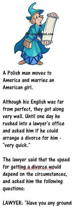 When a Polish guy married an American Woman Clean Funny Jokes, Cute Jokes, Good Jokes, Funny Shit, Funny Stuff, Good Man Quotes, Men Quotes, Funny Quotes, Funny Memes