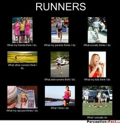 RUNNERS... - What people think I do, what I really do - Perception Vs Fact