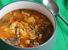 Slow Cooker Red Curry Soup With Chicken and Kale