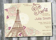 AFTERNOON IN PARIS Custom Baby Shower/Bridal Shower Invitation Digital Design - You Print