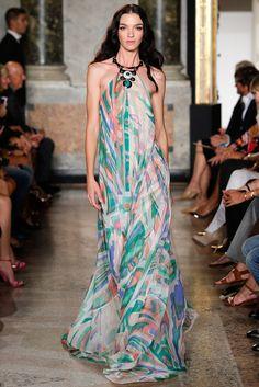 Emilio Pucci Spring 2015 Ready-to-Wear Fashion Show - Mariacarla Boscono