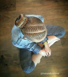Lace 4 and 5 strand braids into a ballerina bun. Love this hairstyle! Lace 4 and 5 strand braids into a ballerina bun. Love this hairstyle! Dance Hairstyles, Little Girl Hairstyles, Pretty Hairstyles, Braided Hairstyles, School Hairstyles, Gymnastics Hairstyles, Updo Hairstyle, Wedding Hairstyles, Braided Updo