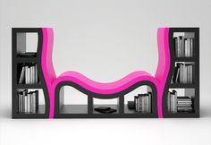 console bookshelf by Stanislav Katz