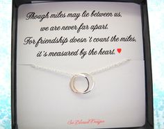 FRIENDSHIP necklace connecting circles by SoBlessedDesigns on Etsy