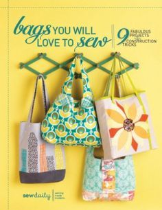 A cute basic bag that could be a great beginner sewing project for a teen, that takes about an hour to sew. If you're looking for a quick and easy bag to sew, this one is an ideal candidate.