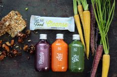 Ready. Set. Go. Juices and delicious Cranberry and Psyllium Cleanse Bar