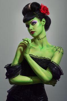 Bride of Frankenstein Costume - Stephanie Cammarano
