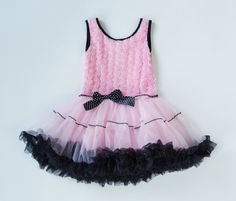 4ae49a93a9 Items similar to Girls Custom Dress Pink Dress Petti Dress Girls Dresses  Birthday Dress Pink Black Petti Dress Ruffles Sizes 12months through Size 5  on Etsy