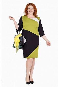 Трехцветное геометрическое платье