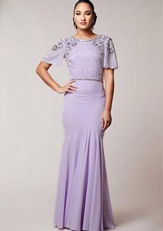 7e3ae434ad0 Virgos Lounge Braeline Lilac Embellished Party Dress 10 38 £165   VirgosLounge  MaxiDress
