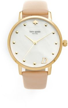 Pin for Later: 13 Personalized Gifts Perfect For Mother's Day  Kate Spade Metro Monogram Watch ($195)