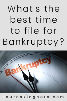 Bankruptcy is not a decision anyone takes lightly. What's the best time to file for bankruptcy? The short answer: when you can no longer cover your mortgage and living expenses or pay down your debts... when you've run out of options. But that's way too simplified. In this article, you'll find the primary reasons we fear bankruptcy and primary reasons we file for bankruptcy. #bankruptcy #bankruptcylawyer #legalmatters #personalfinances