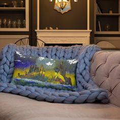 Abstract Detroit Pillow