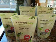 Nature Box is pretty awesome - natural snacks to your door and some great recipes on their website.
