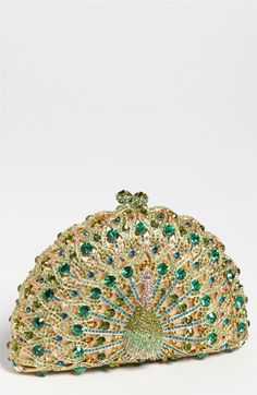 Natasha Couture Peacock Clutch | Nordstrom