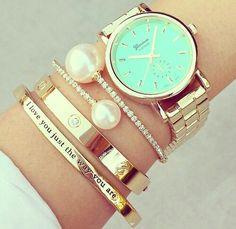 Bracelets + Geneva #pearl -Watches and bracelets