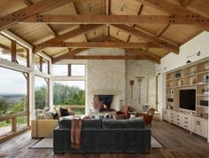 Spicewood TX Ranch Living Room By Austin Interior Design Firm Mark Ashby Designs
