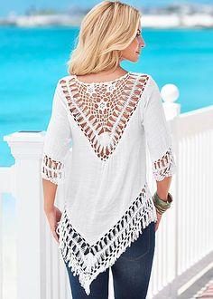 %PC% Crochet fringe tunic from VENUS