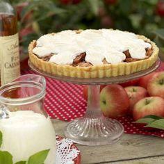 Äppelkaka med marängtäcke