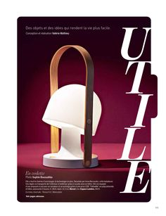 The FollowMe lamp portable, rechargeable and led by Inma Bermúdez  featured in Marie Claire Maison France September issue