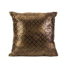 Bronze Lattice Pillow | dotandbo.com