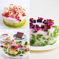 """:o) *yummy*: Eating your vegetables just got a lot easier, thanks to the newest visually eccentric food trend: the """"Vegiedeco Salad. Cakes To Make, How To Make Cake, Sandwich Cake, Tea Sandwiches, Veggie Cakes, Vegetable Cake, Salad Cake, Cuisines Diy, Buffet"""
