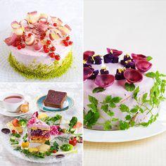 Ces droles de gateaux sont en fait un savant mélange de légumes, de racines et d'épluchures ainsi que de farine de graines de soja. Peu ou pas de sucres ajoutés, et pour le glaçage, un ingénieux mélange de légumes et de fromage frais à tartiner ou de tofu. Résultat : un gateau sans gluten, pauvre en carbohydrates et en sucre. Les ingrédients sont entièrement naturels, indique Mitsuki Moriyasu, et elle profite des magnifiques couleurs des légumes que Mère Nature met à sa disposition.