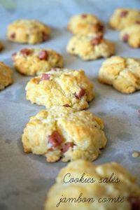 Voici une recette apéro facile et rapide , avec ces cookies salés au jambon et au comté. Un must qui se dévorera en une bouchée!
