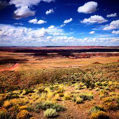 Painted Desert in Arizona ••• Landscape photo art, paintbrush effects.