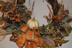 Fall Wreath, Harvest Wreath, Sunflower Wreath, Door Wreath, Harvest Wreath, Front Door Wreath, Gourd Wreath, Sunflower Wreath by TheBloomingWreath on Etsy Wreaths For Front Door, Door Wreaths, Sunflower Wreaths, Fall Wreaths, Gourds, Harvest, Etsy, Painting, Decor