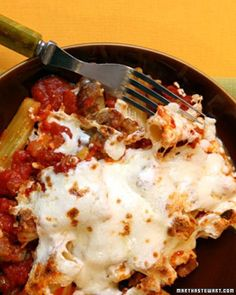 Baked Rigaboney - Bones, anyone? It's easy to imagine this savory rigatoni dish as something much more sinister for Halloween.