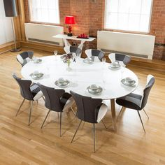 Luxury Large Round Walnut Dining Table Lazy Susan Chairs - Large round dining table 8 chairs