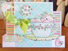 Handmade Card ... Blog: EnchantINK ... Crafters Companion Strawberry Kisses - Cutie
