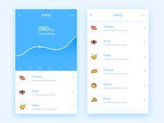 Poof Food Management designed by Gale P🚣. Connect with them on Dribbble; Mobile App Ui, Mobile App Design, User Interface Design, Ui Ux Design, Layout Design, Health App, Application Design, Ui Inspiration, Management