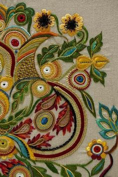 Kashida Embroidery, Crewel Embroidery Kits, Hand Embroidery Videos, Bead Embroidery Patterns, Couture Embroidery, Hand Embroidery Designs, Phulkari Embroidery, Embroidery Needles, Embroidery Hearts