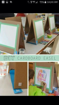 Easel from cardboard