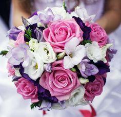 Pink Roses Bouquet and flower arrangements. Premium flowers - Auckland Florist for flowers delivery to Auckland area. Bride Bouquets, Bridesmaid Bouquet, Purple Wedding, Floral Wedding, Wedding Bride, Wedding Favors, Purple Roses, Black Roses, Bridal Flowers