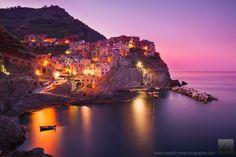 Manarola, Cinque Terre, Italy  Dawn of a New Day by David Richter