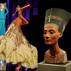 Christian Dior Couture Spring 2004 inspired by queen Neferetiti.