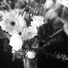 Gerbera Daisies, Roses and Ranunculus.