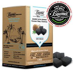 Beamer 100% Natural Coconut Shell Hookah Shisha Charcoal 1 Kilo (Kg) 108 Piece…