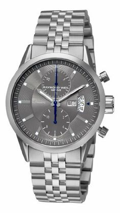 Raymond Weil Men's 7735-ST-60001 Freelancer Grey Chronograph Dial Watch Raymond Weil. $1634.02. Grey dial. Automatic movement. Chronograph dial. Water-resistant to 330 feet (100 M). Stainless-steel round case