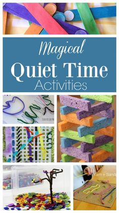 These quiet time activities for kids are MAGICAL! So many ideas for quiet boxes and busy bags for toddlers