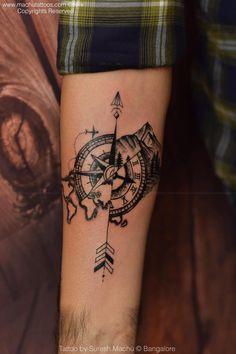 a005763aab321 Travel customized tattoo done by suresh machu from machu tattoo studio  bangalore india